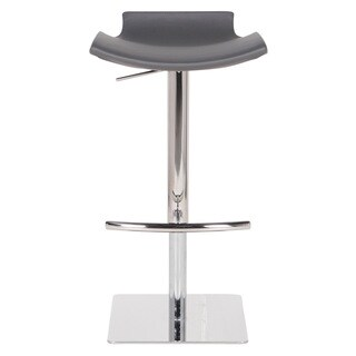 Raven Leather Upholstered Hydraulic Bar Stool