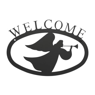 Black Angel 'Welcome' Sign