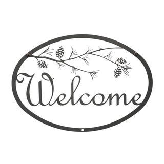 Black Welcome Wall Sign