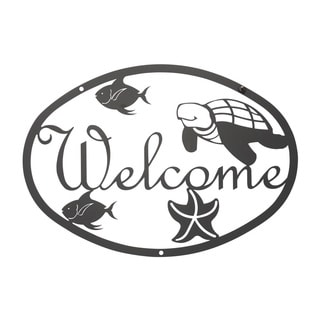 WEL-185-VWR Black Sealife Welcome Plaque