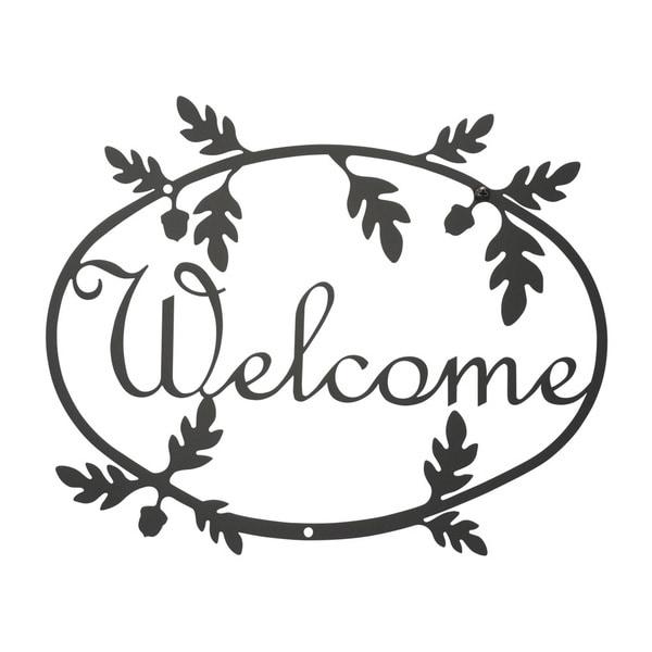 Black 'Welcome' Plaque