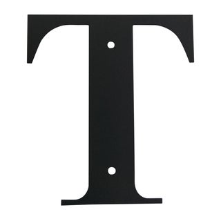 Letter T Large Address Plaque