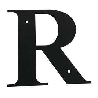 Black Metal 'Letter R' Plaque