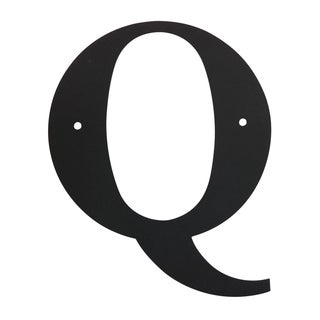 Black 6-inch Letter 'Q' for Address Plaques