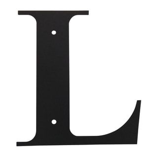 Black 'Letter L' Wall Decor