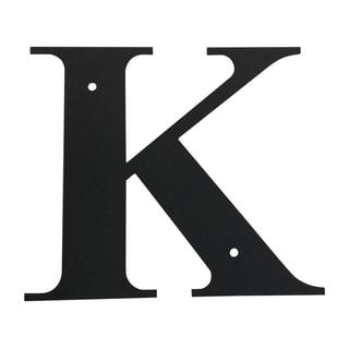 "LET-K-S-VWR Black 7"" x 6"" Small Letter 'K'"