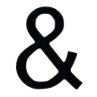 Black Ampersand Letter Plaque