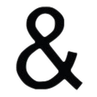 LET-AMP-M-VWR Black Letter Ampersand Address Plaque