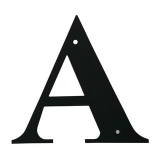 Black Medium Letter A Address Plaque