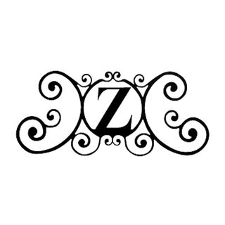 Decorative Black Letter 'Z' Address Plaque