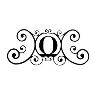 Black Letter 'O' Address Plaque