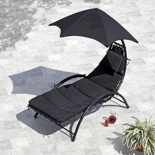 Helicopter Sunlounger Black