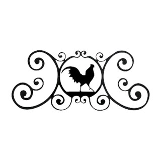 Black Rooster Plaque