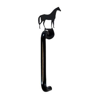 Black Wrought Iron Horse Door Handle