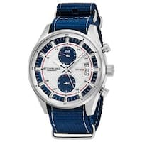 Stuhrling Original Men's Quartz Dual Time Monaco Canvas strap Watch