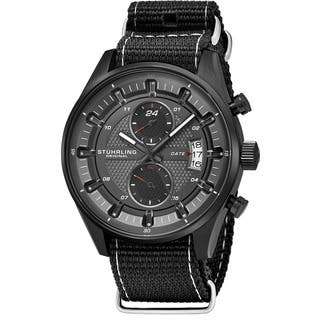 Stuhrling Original Men's Quartz Dual Time Monaco Canvas Strap Watch|https://ak1.ostkcdn.com/images/products/14405876/P20975170.jpg?impolicy=medium