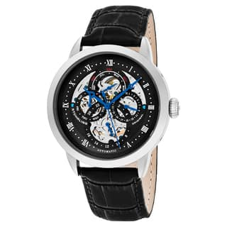 Stuhrling Original Men's Automatic Multifunction Legacy Black Leather Strap Wacth https://ak1.ostkcdn.com/images/products/14405883/P20975173.jpg?impolicy=medium