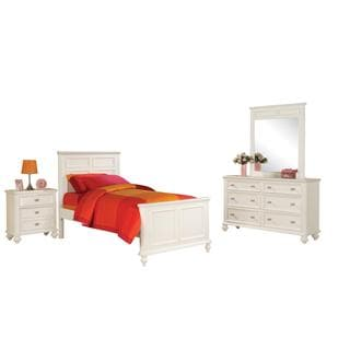 Acme Furniture Athena White 4-Piece Bedroom Set