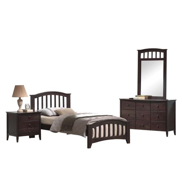 Acme Furniture San Marino 4-Piece Mission Bedroom Set in Dark ...
