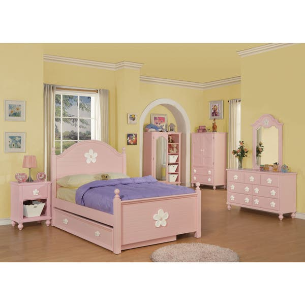 Shop Acme Furniture Floresville Bedroom Set in Pink - Free ...