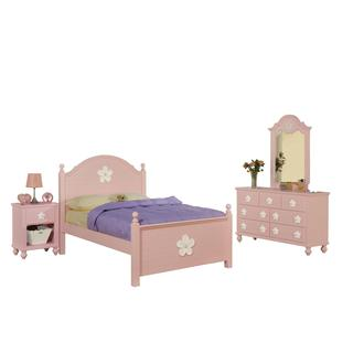Acme Furniture Floresville Bedroom Set in Pink