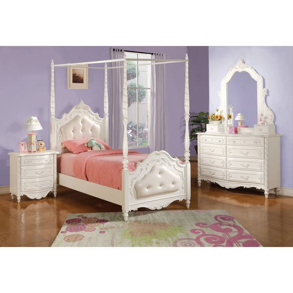 Shop Acme Furniture Pearl 5-Piece Canopy Bedroom Set in ...