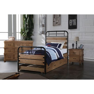 Acme Furniture Adams 4-Piece Bedroom Set in Antique Oak