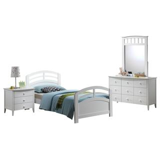 Acme Furniture San Marino 4-Piece Twin Bedroom Set in White