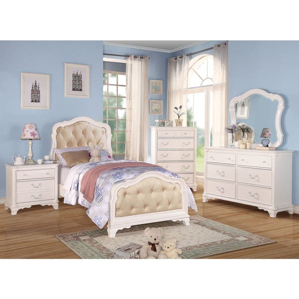 Shop Acme Furniture Ira 4-Piece Tufted Bedroom Set in White ...