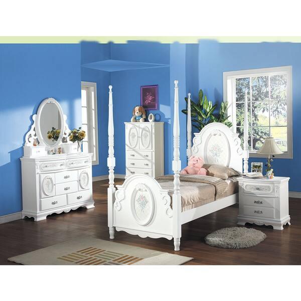Shop Acme Furniture Flora 4-Piece Poster Bedroom Set in ...