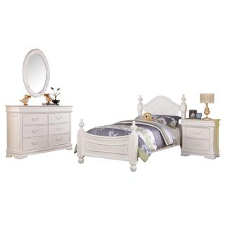 Acme Furniture Classique 4-Piece Bedroom Set in White