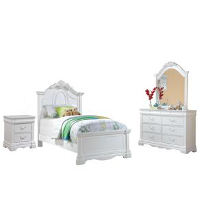 Acme Furniture Estrella 4-Piece Bedroom Set in White