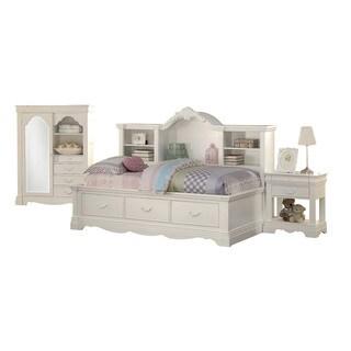Acme Furniture Estrella 3-Piece Twin Bedroom Set in White