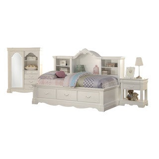 Acme Furniture Estrella 3 Piece Twin Bedroom Set In White
