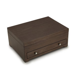 Wallace Distressed Wood Flatware Chest with S12 Tarnish Resistant Lining