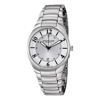 Stuhrling Original Men's Swiss Quartz 'Regalia' Stainless Steel Link Bracelet Watch - silver