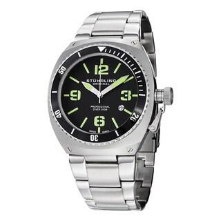 Stuhrling Original Men's Swiss Quartz 'Regatta DSV' Stainless Steel Link Bracelet Watch