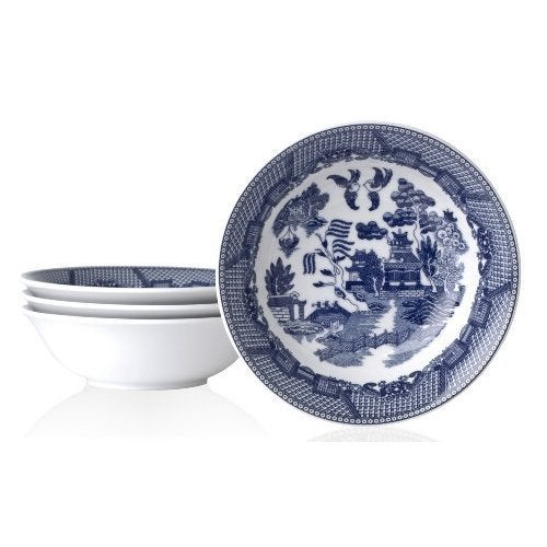 Blue Willow Cereal Bowl (Pack of 4) (Blue) (Porcelain, So...