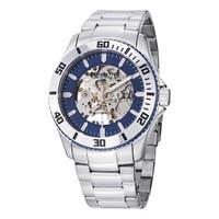 Stuhrlng Original Men's Automatic Skeleton Regatta Stainless Steel Link Bracelet Watch