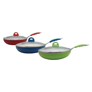 Ceramic 9-inch Frying Pan With Lid