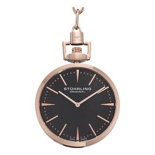 Stuhrling Original Men's Swiss Quartz Symphony Rose-Tone Pocket Watch
