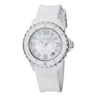 Stuhrling Original Women's Quartz Atlantis White Rubber Strap Watch|https://ak1.ostkcdn.com/images/products/14406105/P20975339.jpg?impolicy=medium