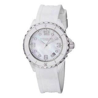 Stuhrling Original Women's Quartz Atlantis White Rubber Strap Watch