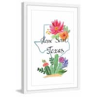 Marmont Hill - 'Texas Is My Home' Framed Painting Print