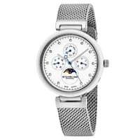 Stuhrling Original Women's Swiss Quartz  Multifunction Symphony Stainless Steel Mesh Bracelet Watch