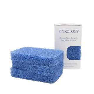 Sinkology Breeze Non-Scratch, Odor Resistant Silicone Scrubber (6P)