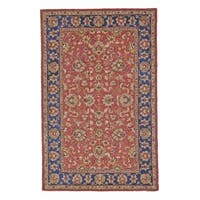 Grand Bazaar Red/Navy Tufted Dubois Rug (5' x 8') - 5' x 8'
