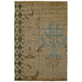 Grand Bazaar Camel Hand Knotted Timeo Rug (5' 6 x 8' 6)