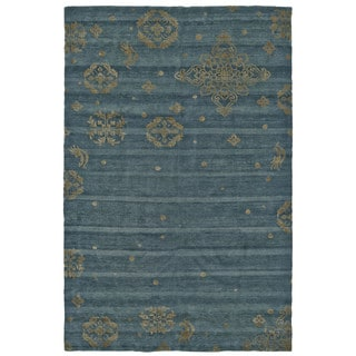Grand Bazaar Teal Hand Knotted Timeo Rug (5' 6 x 8' 6)
