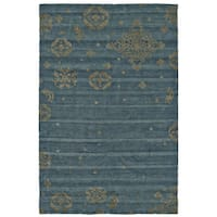 """Grand Bazaar Teal Hand Knotted Timeo Rug - 5'-6"""" x 8'-6"""""""